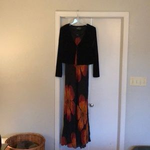 Sz 12 Carol Little dress maxi length
